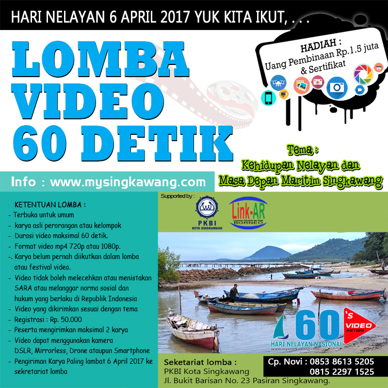 pengumuman pemenang lomba video 60 detik