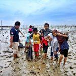 aksi sadar wisata operasi sampah di mangrove park setapuk